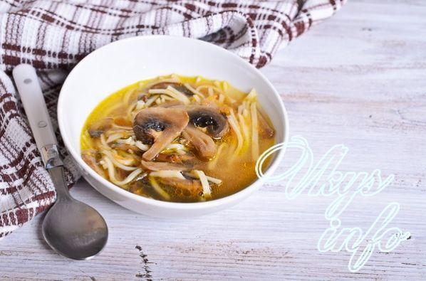 Грибной суп из шампиньонов рецепт с фото