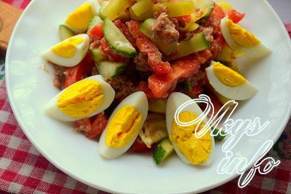диетический салат с говядиной