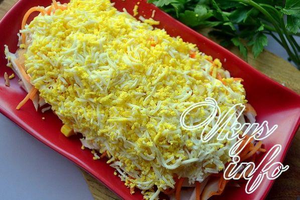 Салат парус с чипсами картофелем рецепт с пошагово 146