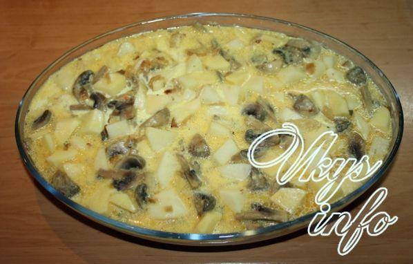 картошка сгрибами в духовке