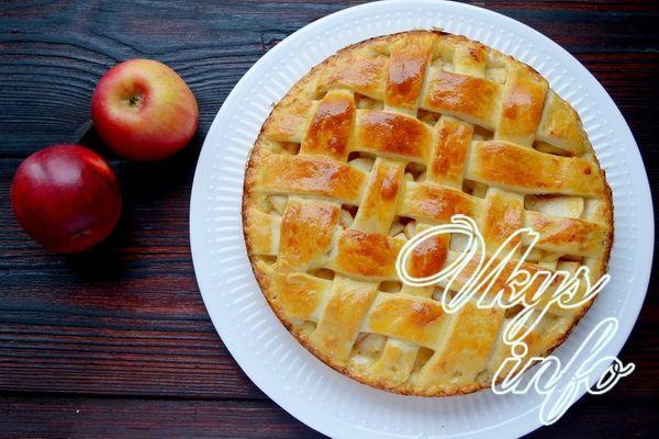 Дрожжевое тесто с яблоками