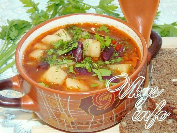 овощной суп с фасолью консервированной рецепты