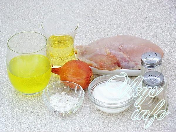 Куриное филе в сметанном соусе на сковороде фото ингредиенты