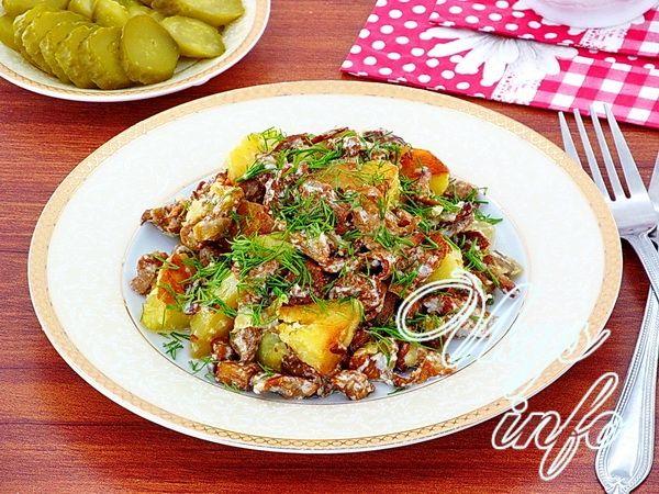 жареные лисички с картошкой рецепт с фото пошагово
