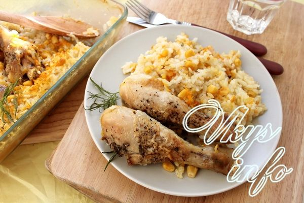 ленивые ножки с рисом и кукурузой рецепт