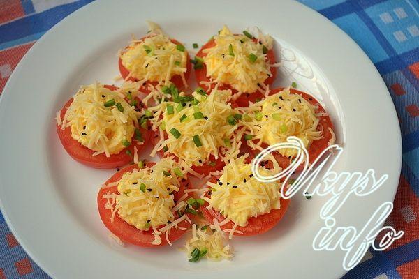 помидоры с чесноком и майонезом салат рецепт