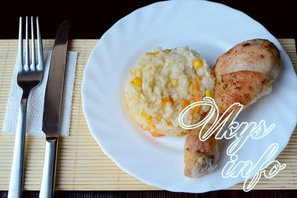 рецепт Куриные ножки с рисом в духовке