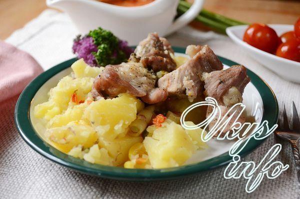 мясо свинина в рукаве в духовке рецепт с фото с