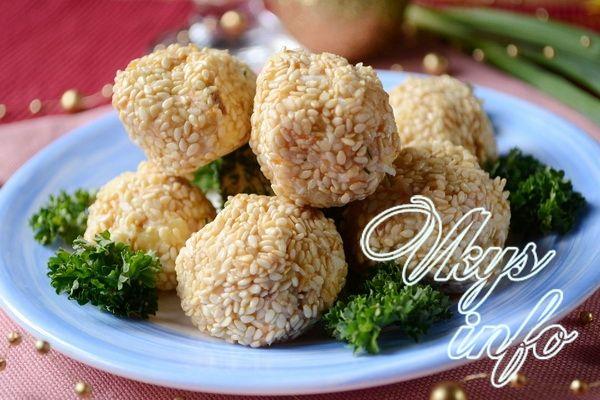 Салат мимоза шариками