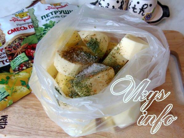 картошка в пакете в микроволновке рецепт