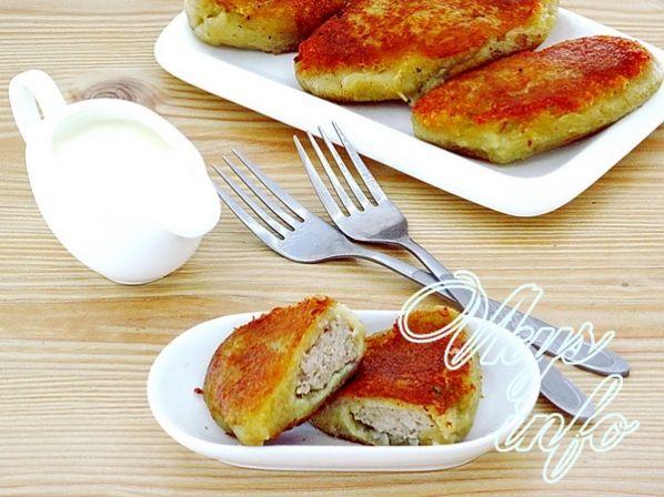 зразы из картофеля с фаршем в духовке рецепт