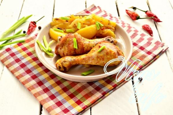 Как потушить куриные ножки на сковороде - пошаговый рецепт