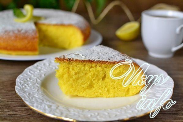 Лимонный кекс с пропиткой рецепт с фото пошагово