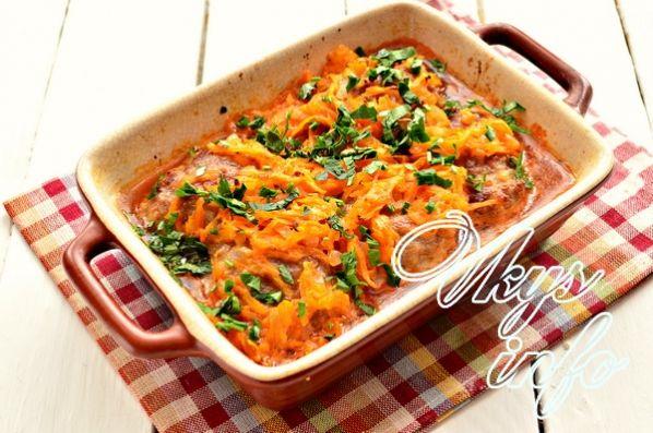 Мясные биточки с подливкой (из фарша в духовке) рецепт с фото