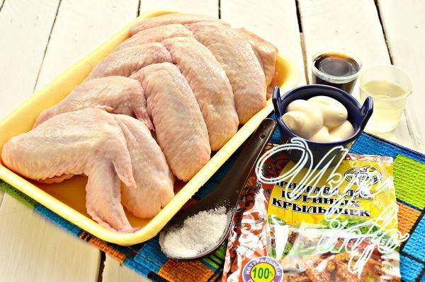 Вкусные крылышки в духовке фото ингредиенты