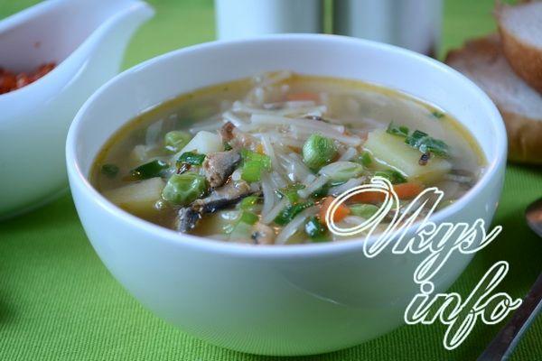 рецепт Суп из кильки в томатном соусе