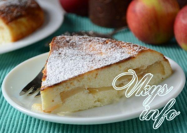 Творожная запеканка с яблоками без манки