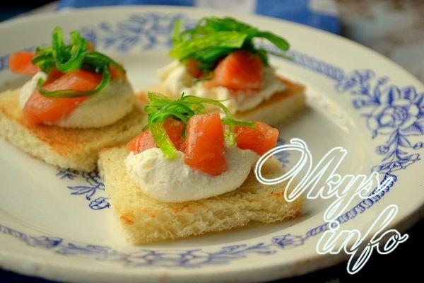 рецепт Бутерброды с красной рыбой - варианты