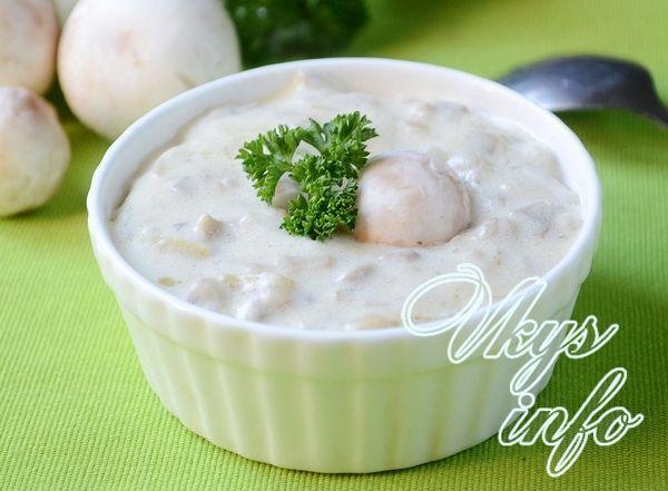 грибной соус со сливками рецепт с фото