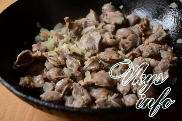 желудочки куриные тушеные в сметане рецепт