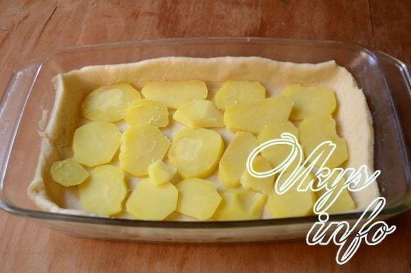 Картофельный пирог без дрожжей в духовке рецепт с