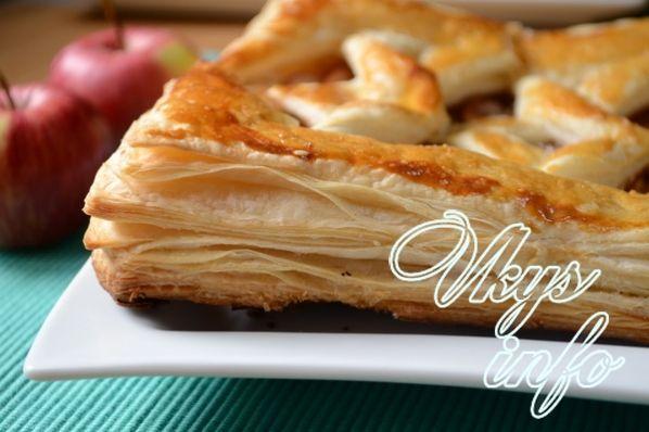 Яблочный пирог из слоеного дрожжевого теста рецепты с пошагово