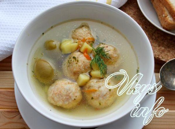 Суп с рыбным фаршем рецепт