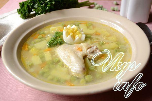 рецепт Суп с зеленым замороженным горошком