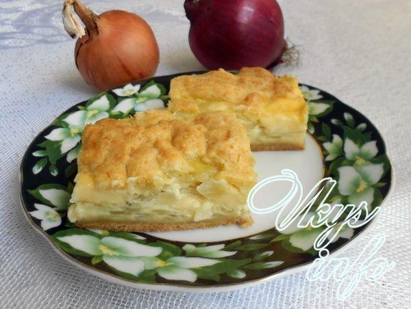 рецепт Пирог с плавленым сыром и луком