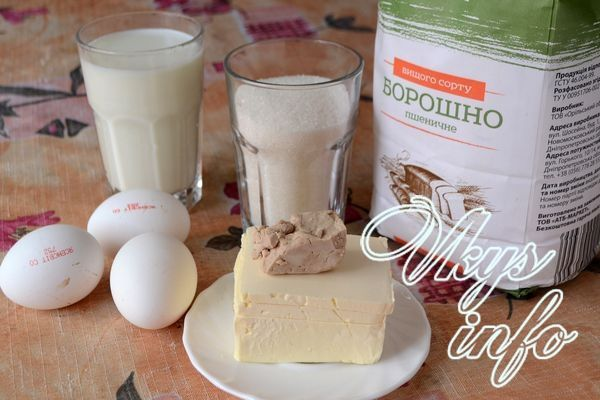Тесто для булочек на молоке с дрожжами фото ингредиенты