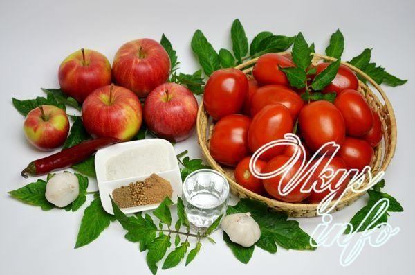 Краснодарский соус на зиму фото ингредиенты