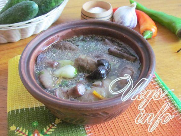 рецепт Грибной суп из лесных грибов