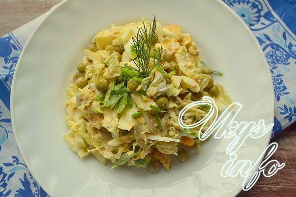 рецепт Салаты из консервированного тунца