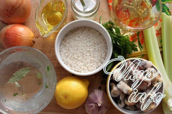 Ризотто с морепродуктами фото ингредиенты