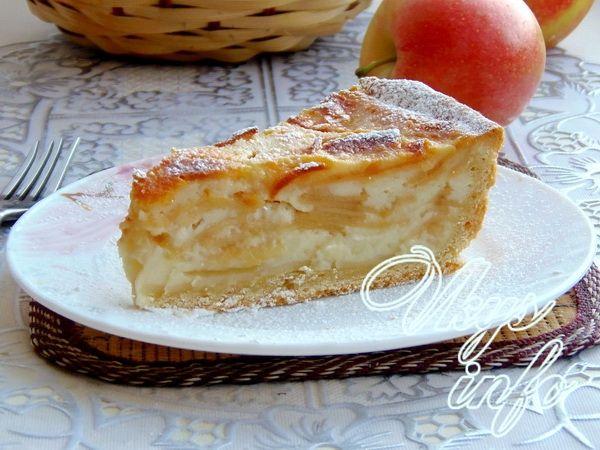 пирог со сметанной заливкой рецепт с фото