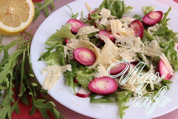 Простой салат с руколой рецепт с
