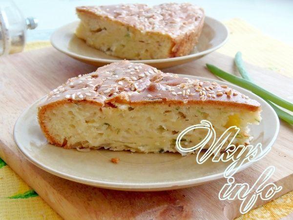 заливной пирог на майонезе с капустой рецепт