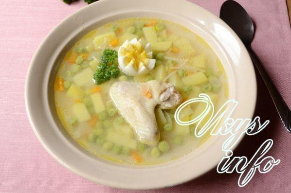 sup s zelenym zamorozhennym goroshkom 9
