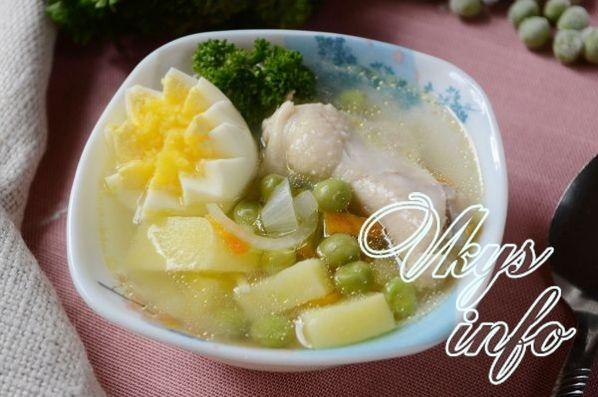 sup s zelenym zamorozhennym goroshkom 11