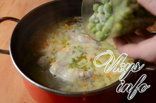 sup s zelenym zamorozhennym goroshkom 7