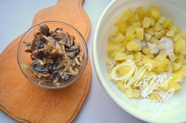 рыбный салат из вареной трески классический рецепт
