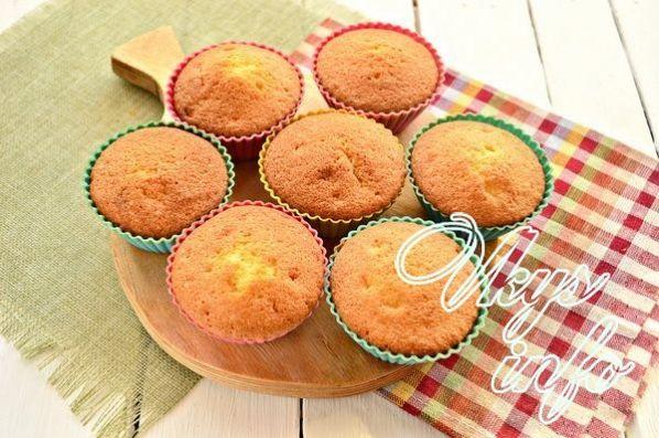 Кексы начинкой рецепт фото пошагово