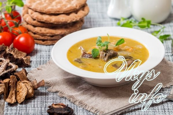 рецепт крем супа из грибов лесных