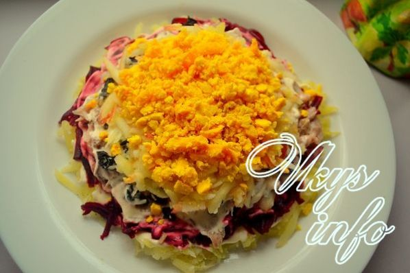 Готовим салат шапка мономаха с фото