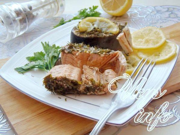 горбуша запеченная в духовке рецепт с фото пошагово стейки