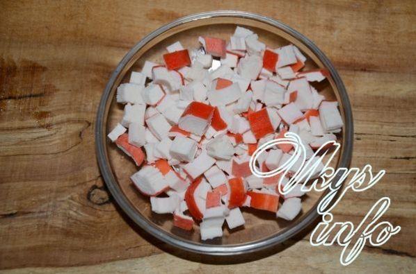 Легкие салаты из крабовых палочекы с фото простые и вкусные