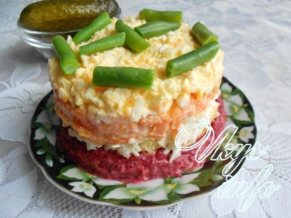 салат из вареной картошки свеклы и моркови