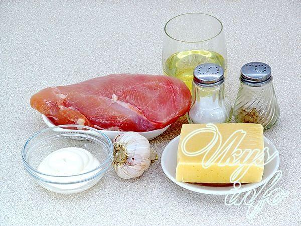 куриная отбивная с сыром в духовке фото рецепт