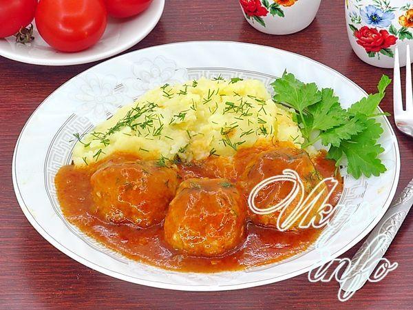 Тефтели с рисом в томатном соусе рецепт с пошаговым в духовке 2