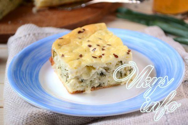 заливной пирог с капустой на молоке рецепт